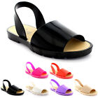 Womens Sling Back Peep Toe Sliders Flip Flops Festival Flatform Sandals UK 3-9