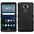 Heavy Duty Hybrid Rubber Silicone Hard Case Cover for LG G Stylo G4 Note LS770