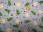 SNOWMEN and PINE TREES -men's tieback- OR BOUFFANT -SCRUB HAT/ MEDICAL /SURGICAL