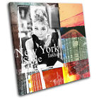 New York Abstract Grunge Urban SINGLE CANVAS WALL ART Picture Print