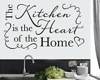 The Kitchen is the Heart of the Home Wall Vinyl Stickers Transfers Murals Decals