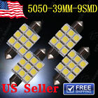 4 X White Dome 39mm 5050 9SMD LED Car Festoon Map Dome Interior Bulb Light Lamp