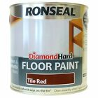 Ronseal Diamond Hard Floor Paint Tile Red 2.5L / 5 Litre - Next Day Delivery