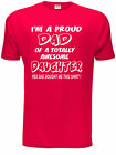 Proud Dad Of Awesome Daughter Fathers Day Mens Gift T-Shirt  Size S-XXL