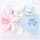 Personalised Baby Comforter Teddy Bear, Snuggle Blanket Birth/Christening Gift