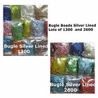 Bugle Beads Assorted Colors 1300 or 2600 Beads 6mm 1/4 inch Beads