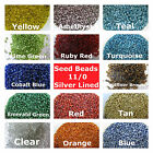 3000 Seed Beads 11/0 Silver Lined Assorted Colors Loose Beads Jewelry Supply