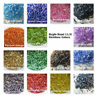 1000 Bugle Beads Rainbow Colors 11/0 Assorted Colors Loose Beads