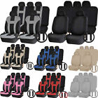 Polyester SUV Combo Front Seats Back row bench Seat Covers Steering