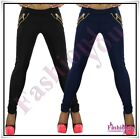 Sexy Ladies Skinny Treggings Women's Trousers Casual Pants Size 8,10,12,14,16 UK