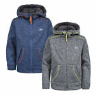 Trespass Saul Kids Full Zip Warm Fleece Jumper Winter Jacket with Hood for Boys
