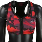 $49 Married To The Mob Women Camo Sports Bra red