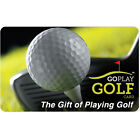 Go Play Golf Gift Card - $25 $50 or $100 - Email delivery