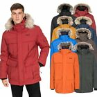 DLX Highland DLX Mens Down Jacket Waterproof Long Parka with Hood
