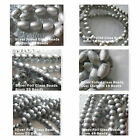 Foil Painted Beads Oval Round 6-8-10-15mm Spacer Focal Beads Fancy Finish Beads