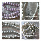 Glass Foiled Round 4mm 6mm 8mm White Lavender Silver Beads