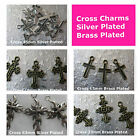 Cross Charms Silver Brass Plated 15mm 19mm 23mm 63mm Jewelry Beading Supply