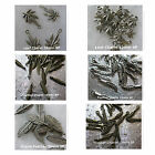 Feather Leaf Leaves Charms Silver Plated Brass Plated Assorted Leaves Feathers