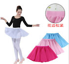 Kid Adult Chiffon Ballet Leotard Tutu Wrap Scarf Skirt Dance Dress Multi-colors