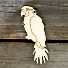 10x Wooden Parrot Perching Craft Shape 3mm Plywood Tropical Bird Animal Pirate