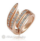 Simulated Diamond/Ring/Large desingn/18K Rose Gold Plated/RGR019
