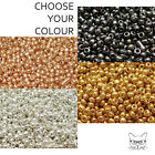 20g Glass Seed Beads Metallic 8/0 Approx 3mm for Jewellery Making and Craft