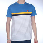 Mens Fila Comber White Ocean Yellow Crew Neck T Shirt