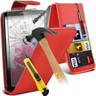 PU Leather Flip Case Cover & Tempered Glass For LG G3