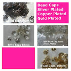 Bead Caps Bell Silver Gold Copper Plated 6mm 9mm 10mm End Cap Findings