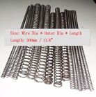 """Wire Dia 0.6-0.9mm OD 4-16mm L: 300mm/11.8"""" Helical Compression Spring Select"""