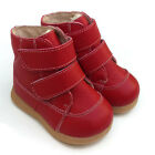 NEW Toddler walker Boots real Leather red girl baby kids child appx 1-3 yrs