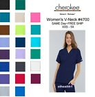 Cherokee Workwear V-Neck Womens Nurse Scrub Top. Style 4700. *NEW* Free Shipping