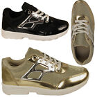 Ladies Shiny Running Women Trainers Fitness Gym Sports Shoes Size UK 3 4 5 6 7 8