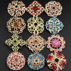 15-100 Bulk Color Crystal Gold Flower Brooch Pin Wedding Bouquet Wholesale Lot