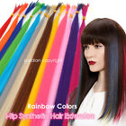 Lot 5/20/50Pcs 16inch Solid Colors Synthetic Fiber I Tip Feather Hair Extension