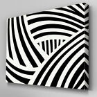 AB637 Modern Black White Stripes Canvas Wall Art Abstract Picture Large Print