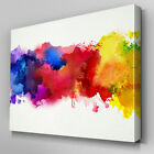 AB948 Multi colour paint splatter Canvas Wall Art Abstract Picture Large Print