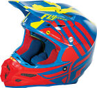 Fly Racing F2 Carbon MIPS ZOOM MX Helmet - Blue/Red/Hi-Vis Yellow - All Sizes