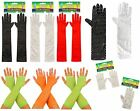 Fancy Dress Costume Accessory Assorted Party Gloves Various Styles & Colours