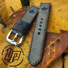 Handmade Vintage Blue Star Leather Watch Strap Band PAM or big watch.