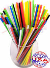 3,000 SLIM plastic drinking straws - 7 3/4 x 0.15 Inch - color selectable