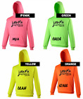 NEW Little Mix HOODY Electric Pink, Green, Orange or Yellow PERSONALISED FREE
