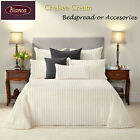 Chelsea Cream Bedspread Set or Accessories SINGLE King Single DOUBLE QUEEN KING