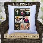 Personalised Cushion Pillow Case Cover Collage Custom Image Photo Fathers Day
