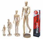 Artists Wooden Manikin Movable Limbs Human Lay Figure Mannequin Bendy Man Jakar