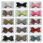Baby/Toddler/Girl/Adult  2.75 Inch Glitter Hair Bows on Lined Clips