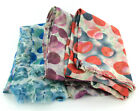 Ladies Rose Floral/Spotted Print Reversible Scarf 91381