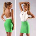 Womens New Sexy Moss Green Elastic Luxe Pencil Mini Bandage Skirt Hot Bodycon