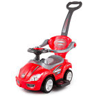Walker Ride On Push Along DELUXE MEGA CAR 3in1 Parent Handle 4 COLOUR KP3523