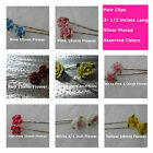 Hair Clips Barretts 2-1/2 inch long Assorted Colors Polymer Clay Porclain Flower
